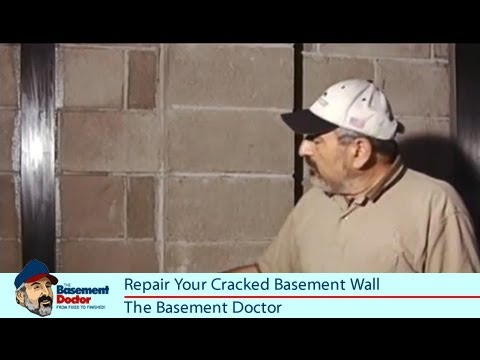 Cracked Basement Wall Repair | Carbon Fiber | The Reinforcer | The Basement  Doctor Columbus OH   YouTube