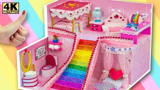 DIY Miniature House #53 ❤️ How To Build Beautiful Mansion with Rainbow Slide from Cardboard for Pet