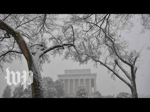 Springtime snowstorm hits D.C. area