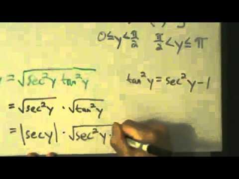 derivative of inverse secant