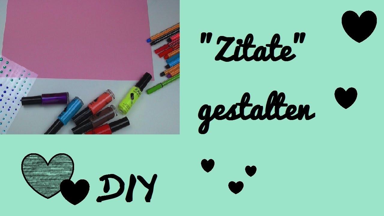 DIY Sprüche/ Verse/ Zitate/ Poesie gestalten   YouTube