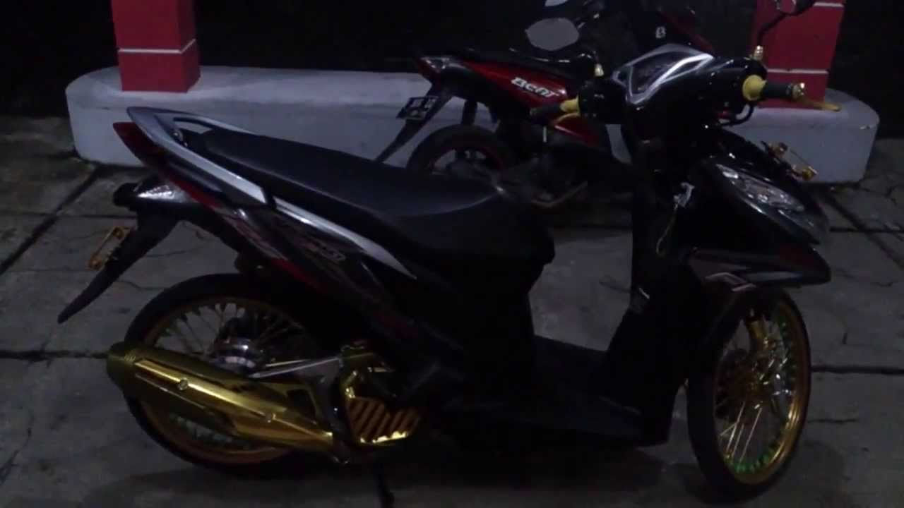 Cara Modifikasi Motor Honda Vario Techno 125 PGM FI 2014 YouTube