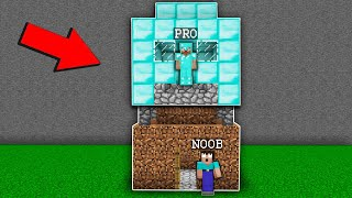 Minecraft PE : PRO built a HOUSE on NOOB house! Noob vs Pro in Minecraft Animation