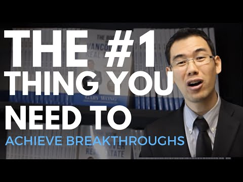 The #1 Thing You Need To Do To Achieve Breakthrough - Vancouver Real Estate: Gary Wong