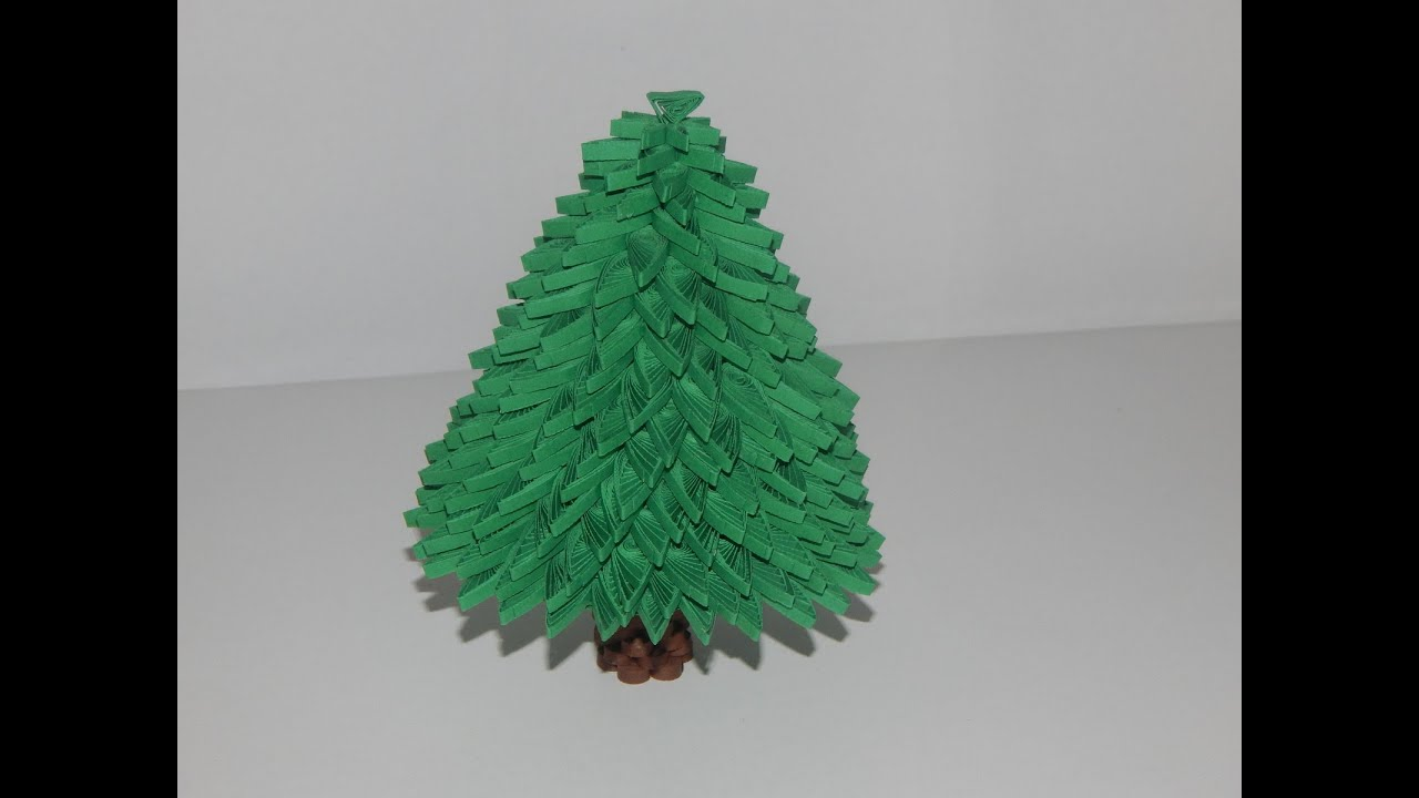 3d Quilling Christmas Tree Sculpture