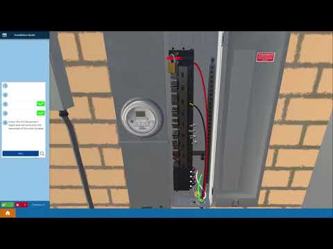 Solar Training - Connect Wires in the Main Service Panel