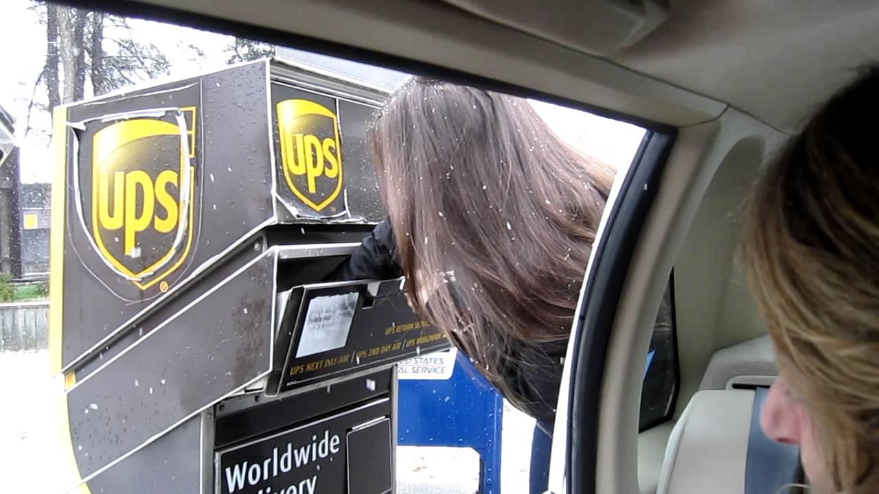 Crazy Girl Destroys UPS box - YouTube