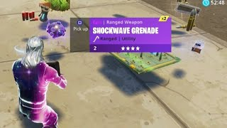 "NEW ""SHOCKWAVE GRENADE"" Gameplay in Fortnite Battle Royale! (New Fortnite Update)"