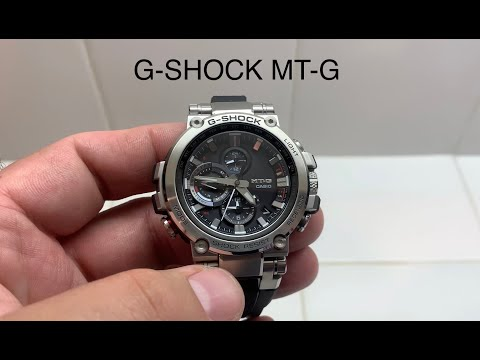 Casio G-SHOCK MT-G MTGB1000-1A G Shock Metal Twisted Watch Dummy Review and Unbox