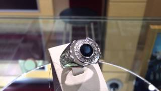 Кольцо мужское из платины с сапфиром(, 2015-05-22T09:07:29.000Z)