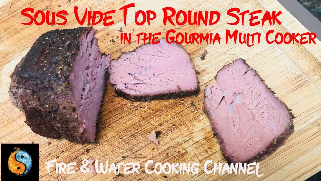 sous vide top round steak in the gourmia gmc680 multi cooker sous