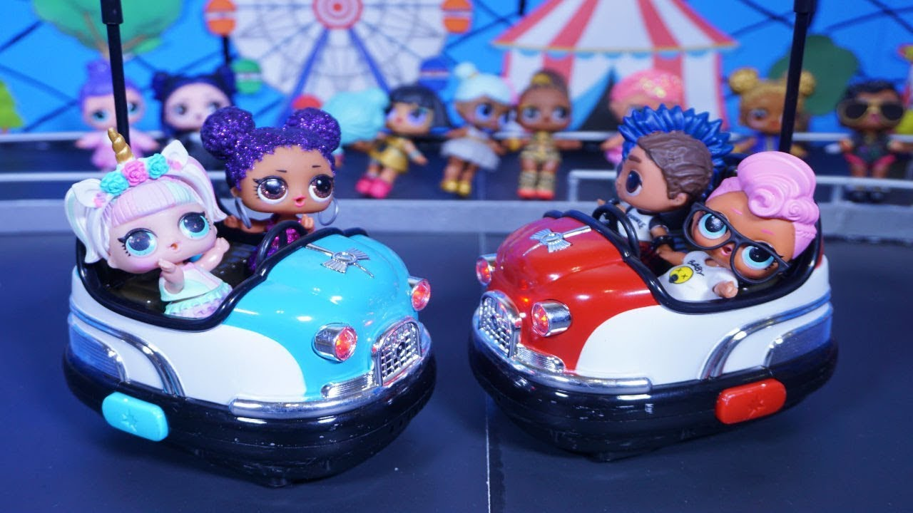 Lol Surprise Dolls Race Bumper Cars Youtube