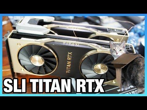 NVLink Titan RTX Benchmarks: Gaming & Power Consumption