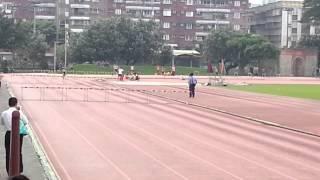 102年陳建安參加屏東縣阿猴盃田徑錦標賽第4跑道400公尺跨欄決賽