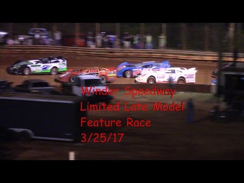 Winder Barrow Speedway Limited late Models Race 3/25/17