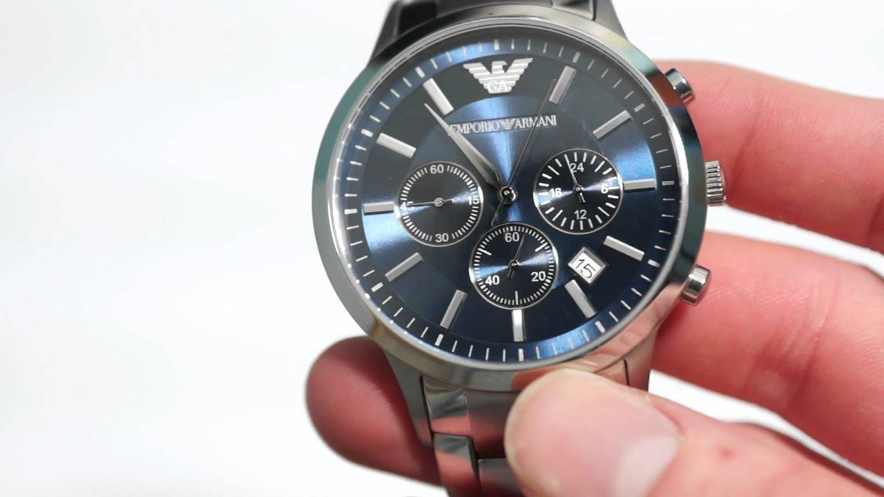 Men's Watch Armani Chronograph Review Emporio YIW2EDH9