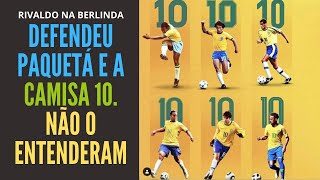 Rivaldo critica Tite, defende camisa 10 da seleção e é atacado como se tivesse criticado Paquetá