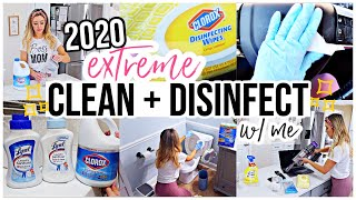 *NEW EXTREME CLEAN + DISINFECT WITH ME SPRING 2020 🧼 | HOW TO DISINFECT YOUR HOME ✨🧼🏡 @Brianna K