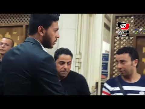 في عزاء الفنان ماهر عصام حضور محمد شاهين  - 21:21-2018 / 6 / 18