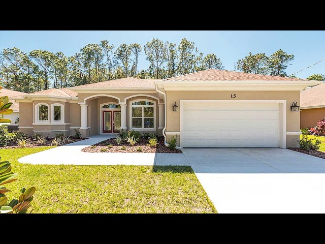 Certified Green Home in Palm Coast, Florida. Model Lucy.