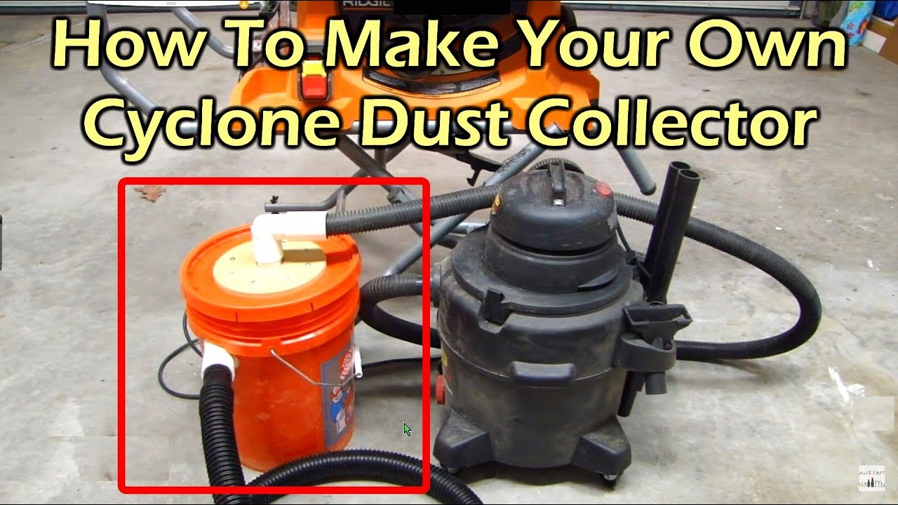 How to make a cyclone dust collector for your shop vacuum youtube how to make a cyclone dust collector for your shop vacuum keyboard keysfo Images