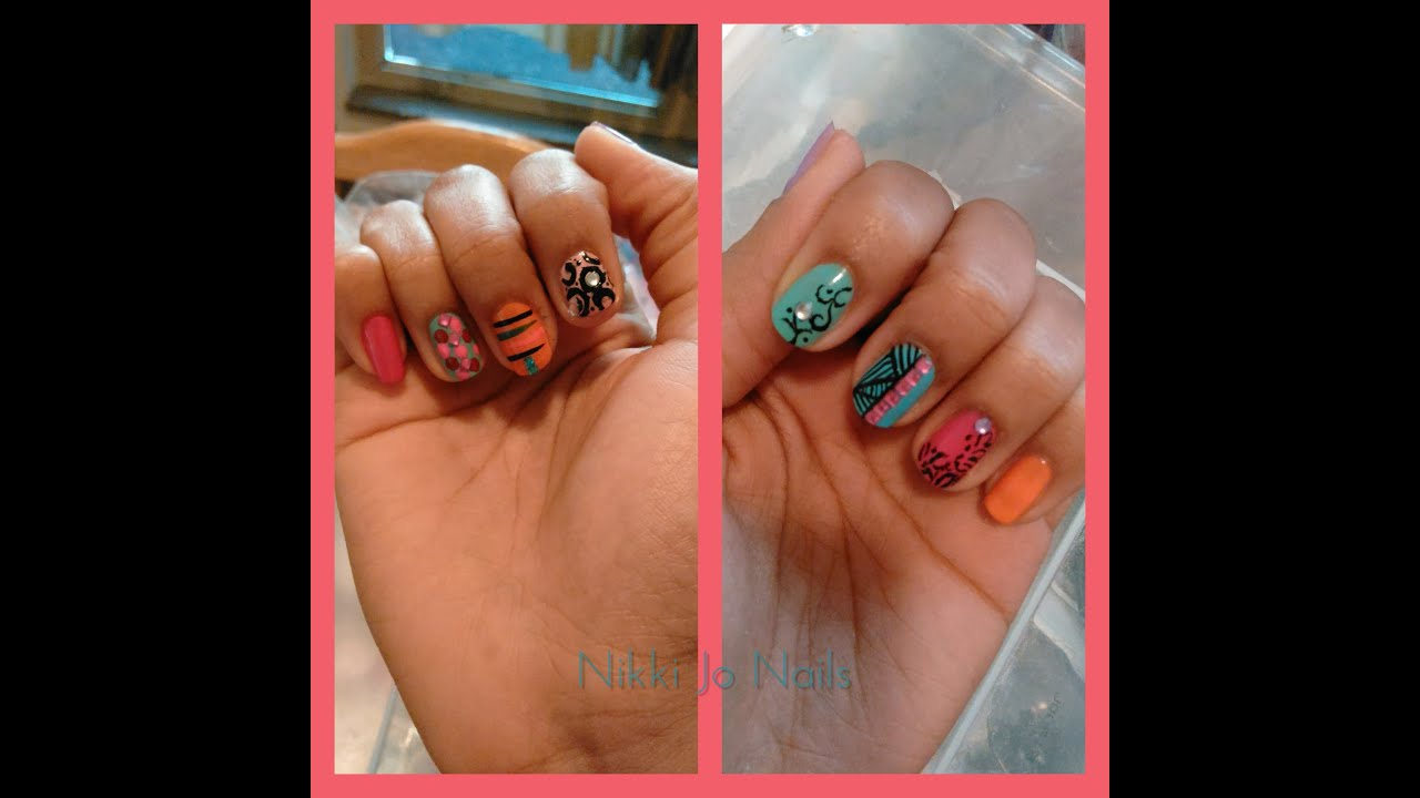 New Nail Art Preview .......Nikki Jo Nails - YouTube