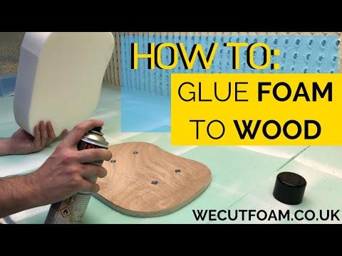 How To Glue Foam To Wood Foamscuttosize Co Uk Youtube