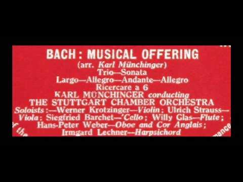 Bach  Karl Munchinger, 1958: Musical Offering  Stuttgart Chamber Orchestra, Vinyl LP