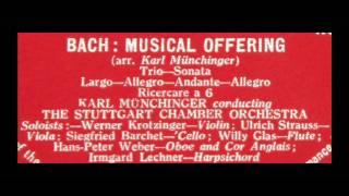 Bach Karl Munchinger 1958 Musical Offering Stuttgart Chamber Orchestra