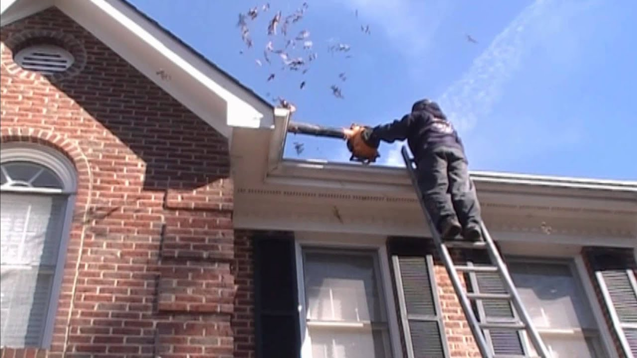 Gutter Cleaning Non Walkable Roof Youtube