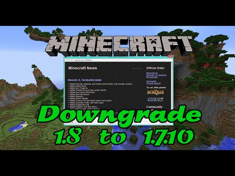 How to downgrade profiles from Minecraft 1.8 to Minecraft 1.7.10