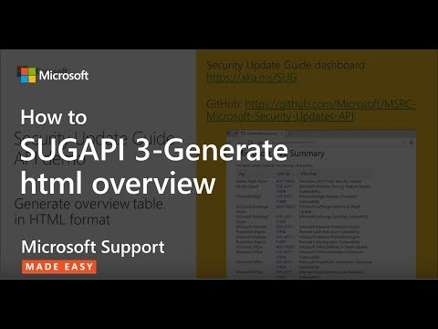 SUGAPI 3-Generate Html Overview - Microsoft Support: Help!