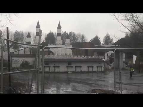 Abandoned Camelot Theme Park Entrance - Security 2017