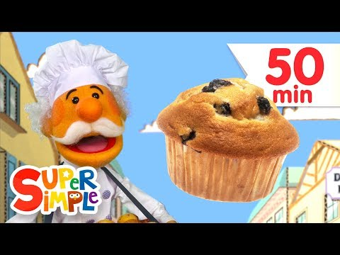 Thumbnail: The Muffin Man + More Kids Songs | Super Simple Songs