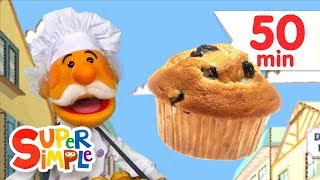 Der Muffin Mann + Mehr Kinder Lieder | Super Simple Songs