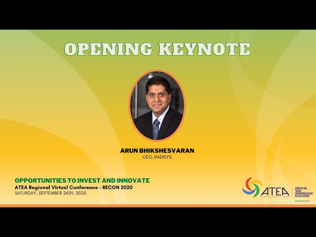 RECON2020 - Opening Keynote - Arun Bhikshesvaran, CEO Radisys - ATEA
