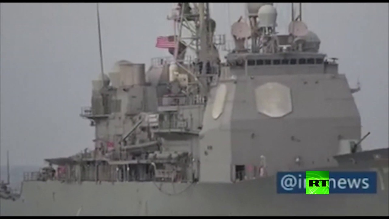 الحرس الثوري الإيراني ينشر فيديو يوثق لحظة اعتراضه للسفن الحربية الأمريكية في الخليج
