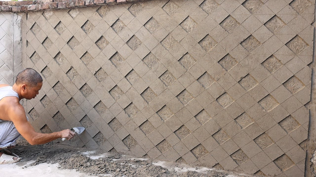 Awesome Construction Projects - Refreshing Fence Wall From Sand and Cement