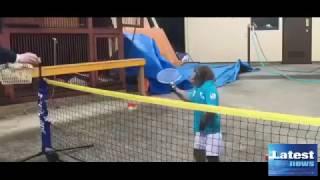 Japanese monkey is worlds newest tennis superstar