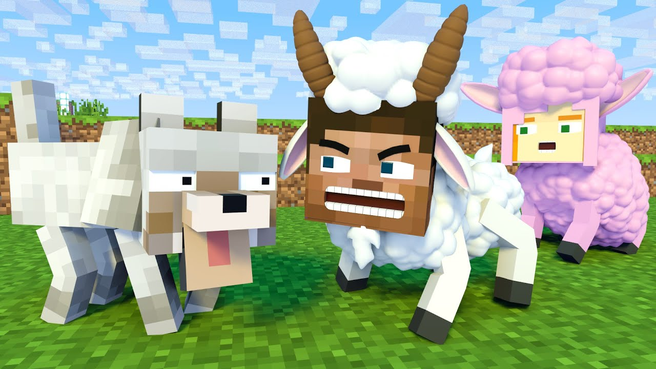 The minecraft life of Alex and Steve : Steve Goat - Minecraft animation