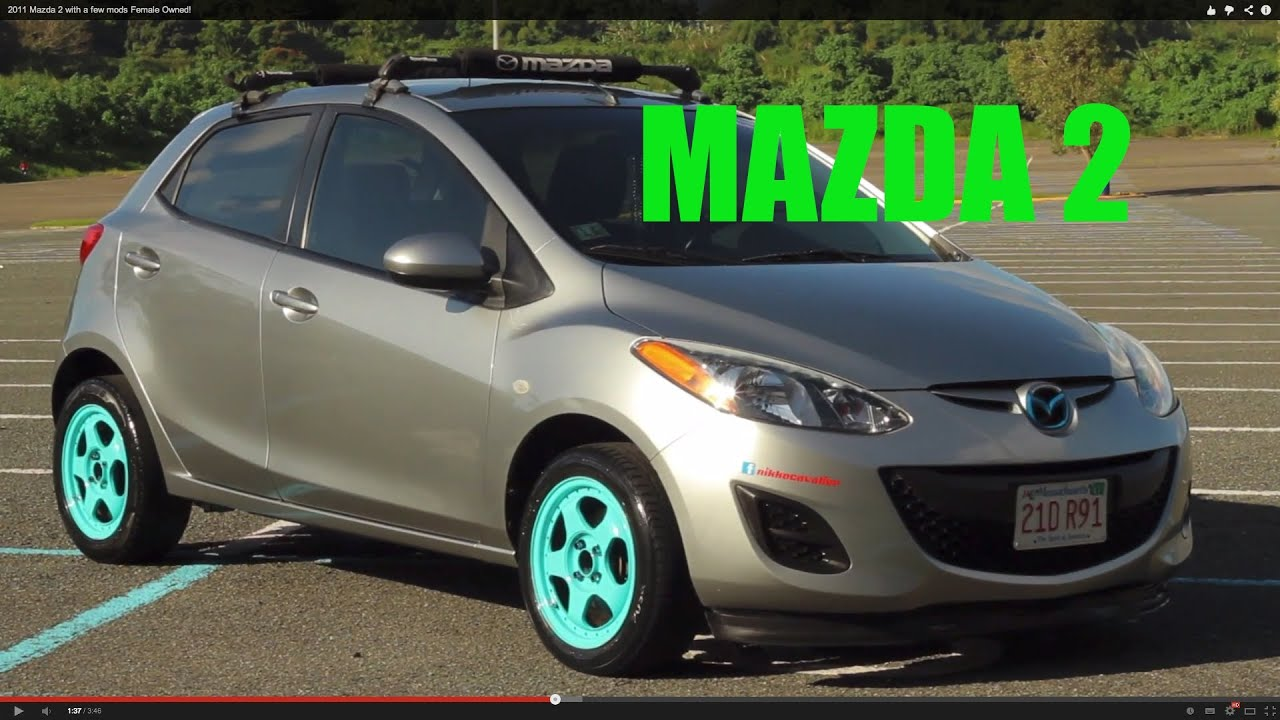 2011 mazda 2 with a few mods female owned youtube. Black Bedroom Furniture Sets. Home Design Ideas