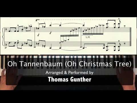 Oh Tannenbaum (Oh Christmas Tree) for Solo piano