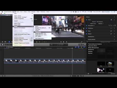 Final Cut Pro X Still Image Capture Tutorial