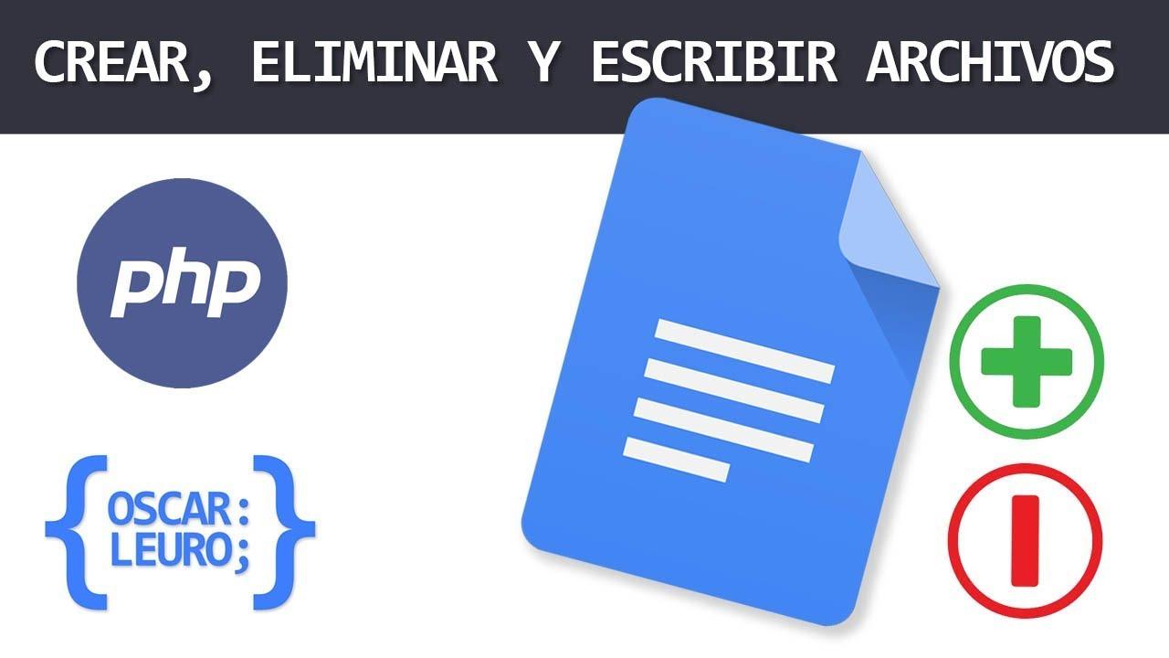 CREAR, ELIMINAR Y ESCRIBIR ARCHIVOS CON PHP - FOPEN, FWRITE Y UNLINK