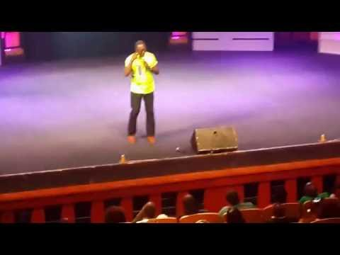 KSM ON STAGE AT DKB'S POINT OF VIEW COMEDY SHOW