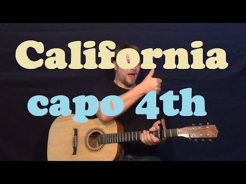 California (Phantom Planet) Guitar Lesson Easy Strum Chord Licks How to Play Tutorial OC Theme