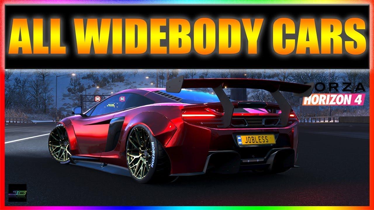 Forza Horizon 4 All 39 Wide Body Kits Youtube