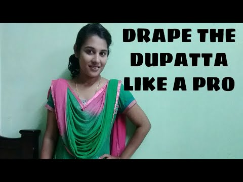 How To Wear Dupatta | Easy DIY Using Safety Pins/Krystal sherina