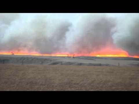Lethbridge Grass Fire -  Nov 27th 2011