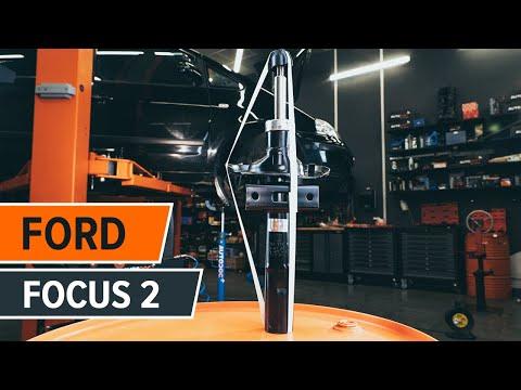 How to changesuspension strut repair kit, front shock absorbersonFORD FOCUS 2TUTORIAL | AUTODOC